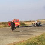Ben's Spitfire after the crash