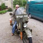 Ben on a D Day veteran Harley Davidson