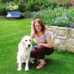 Jaye and Saffron in Manor garden